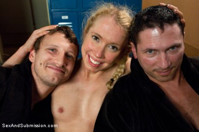 Photo number 15 from Take One for the Team shot for Sex And Submission on Kink.com. Featuring Mr. Pete, John Strong and Nicki Blue in hardcore BDSM & Fetish porn.