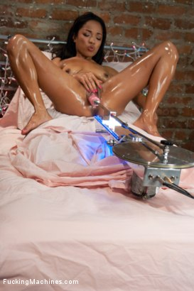 Photo number 7 from Brand New Amateur is a Surprise Squirter and Fucking Machine! shot for Fucking Machines on Kink.com. Featuring Melanie Lucci in hardcore BDSM & Fetish porn.
