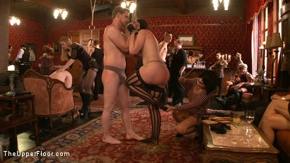 Photo number 12 from Stefanos' Brunch shot for The Upper Floor on Kink.com. Featuring Maestro Stefanos, Nerine Mechanique and Iona Grace in hardcore BDSM & Fetish porn.