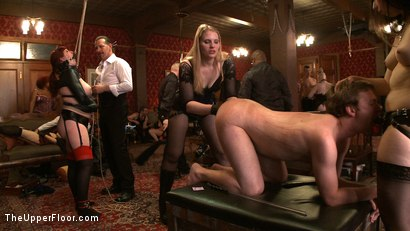 Photo number 17 from Stefanos' Brunch shot for The Upper Floor on Kink.com. Featuring Maestro Stefanos, Nerine Mechanique and Iona Grace in hardcore BDSM & Fetish porn.