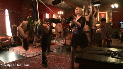 Photo number 9 from Stefanos' Brunch shot for The Upper Floor on Kink.com. Featuring Maestro Stefanos, Nerine Mechanique and Iona Grace in hardcore BDSM & Fetish porn.
