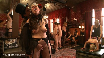 Photo number 10 from Stefanos' Brunch shot for The Upper Floor on Kink.com. Featuring Maestro Stefanos, Nerine Mechanique and Iona Grace in hardcore BDSM & Fetish porn.