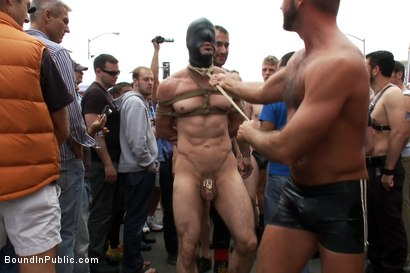 Photo number 1 from Muscle slave is stripped naked, used and humiliated while hordes of people take photos. shot for Bound in Public on Kink.com. Featuring Josh West, Jason Miller and Spencer Reed in hardcore BDSM & Fetish porn.