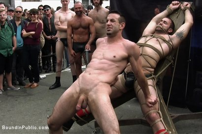 Photo number 6 from Muscle slave is stripped naked, used and humiliated while hordes of people take photos. shot for Bound in Public on Kink.com. Featuring Josh West, Jason Miller and Spencer Reed in hardcore BDSM & Fetish porn.