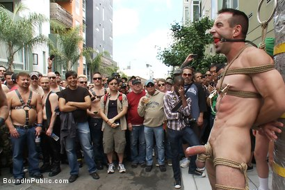 Photo number 9 from Muscle slave is stripped naked, used and humiliated while hordes of people take photos. shot for Bound in Public on Kink.com. Featuring Josh West, Jason Miller and Spencer Reed in hardcore BDSM & Fetish porn.