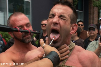 Photo number 3 from Muscle slave is stripped naked, used and humiliated while hordes of people take photos. shot for Bound in Public on Kink.com. Featuring Josh West, Jason Miller and Spencer Reed in hardcore BDSM & Fetish porn.