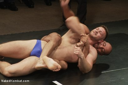 Photo number 1 from Paul Wagner & Sebastian Keys vs Leo Forte & Alessio Romero - Live Audience Tag Team Match shot for Naked Kombat on Kink.com. Featuring Leo Forte, Sebastian Keys, Alessio Romero and Paul Wagner in hardcore BDSM & Fetish porn.