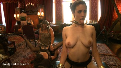 Photo number 10 from Sophie's Tea Party shot for The Upper Floor on Kink.com. Featuring Iona Grace, Krysta Kaos and Juliette March in hardcore BDSM & Fetish porn.
