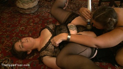 Photo number 16 from Sophie's Tea Party shot for The Upper Floor on Kink.com. Featuring Iona Grace, Krysta Kaos and Juliette March in hardcore BDSM & Fetish porn.