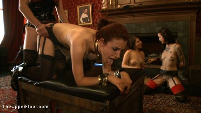 Photo number 18 from Sophie's Tea Party shot for The Upper Floor on Kink.com. Featuring Iona Grace, Krysta Kaos and Juliette March in hardcore BDSM & Fetish porn.