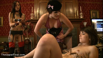 Photo number 7 from Sophie's Tea Party shot for The Upper Floor on Kink.com. Featuring Iona Grace, Krysta Kaos and Juliette March in hardcore BDSM & Fetish porn.