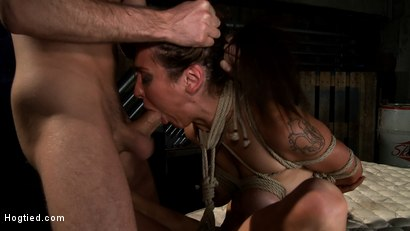 """Photo number 12 from """"The Limo"""": A Hogtied Feature Movie.  A fantasy BDSM abduction movie starring Princess Donna shot for hogtied on Kink.com. Featuring James Deen and Princess Donna Dolore in hardcore BDSM & Fetish porn."""