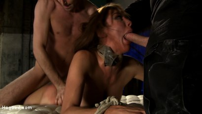 """Photo number 7 from """"The Limo"""": A Hogtied Feature Movie.  A fantasy BDSM abduction movie starring Princess Donna shot for hogtied on Kink.com. Featuring James Deen and Princess Donna Dolore in hardcore BDSM & Fetish porn."""