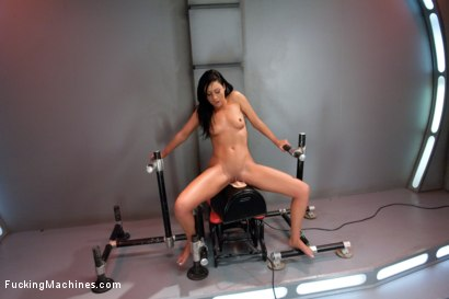 Photo number 9 from She Screams, She Cums, She's Machine Fucked to Tilt shot for Fucking Machines on Kink.com. Featuring Tiffany Brookes in hardcore BDSM & Fetish porn.