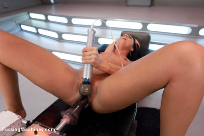 Photo number 2 from She Screams, She Cums, She's Machine Fucked to Tilt shot for Fucking Machines on Kink.com. Featuring Tiffany Brookes in hardcore BDSM & Fetish porn.