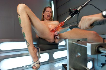 Photo number 3 from Double Penetration Warm-up: Machine Fucking at 1 Million Percent shot for Fucking Machines on Kink.com. Featuring Rain DeGrey in hardcore BDSM & Fetish porn.