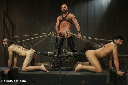 Photo number 11 from Josh West - Live Shoot shot for Bound Gods on Kink.com. Featuring Van Darkholme, Josh West, Dylan Deap and Dominic Pacifico in hardcore BDSM & Fetish porn.
