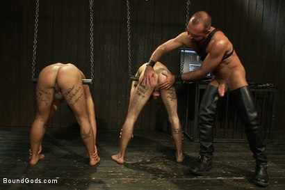 Photo number 3 from Josh West - Live Shoot shot for Bound Gods on Kink.com. Featuring Van Darkholme, Josh West, Dylan Deap and Dominic Pacifico in hardcore BDSM & Fetish porn.
