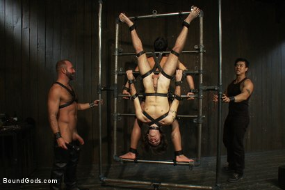 Photo number 5 from Josh West - Live Shoot shot for Bound Gods on Kink.com. Featuring Van Darkholme, Josh West, Dylan Deap and Dominic Pacifico in hardcore BDSM & Fetish porn.