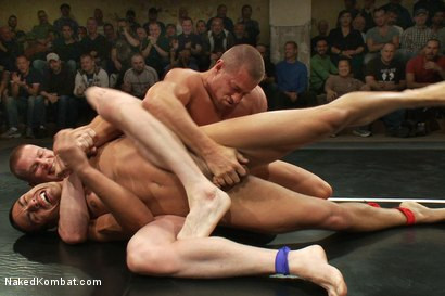 Photo number 5 from Tyler Saint & Blake Daniels vs Sebastian Keys & Emanuel <br> Live Audience Tag Team Match shot for Naked Kombat on Kink.com. Featuring Sebastian Keys, Emanuel, Blake Daniels and Tyler Saint in hardcore BDSM & Fetish porn.