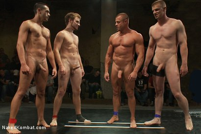 Photo number 15 from Tyler Saint & Blake Daniels vs Sebastian Keys & Emanuel <br> Live Audience Tag Team Match shot for Naked Kombat on Kink.com. Featuring Sebastian Keys, Emanuel, Blake Daniels and Tyler Saint in hardcore BDSM & Fetish porn.