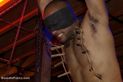 Photo number 9 from Play Party at SF Citadel shot for Bound in Public on Kink.com. Featuring Leo Forte and Josh West in hardcore BDSM & Fetish porn.