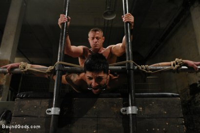 Photo number 13 from Not You, Not Today shot for Bound Gods on Kink.com. Featuring Dominic Pacifico and Tyler Saint in hardcore BDSM & Fetish porn.