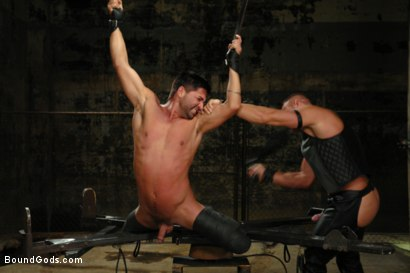 Photo number 3 from Not You, Not Today shot for Bound Gods on Kink.com. Featuring Dominic Pacifico and Tyler Saint in hardcore BDSM & Fetish porn.
