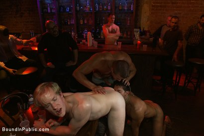 Photo number 8 from Hot Latin stripper is humiliated and used as a sex object in front of a horny crowd. shot for Bound in Public on Kink.com. Featuring Alexander Garrett and Tyler Saint in hardcore BDSM & Fetish porn.
