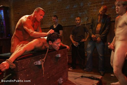 Photo number 13 from Hot Latin stripper is humiliated and used as a sex object in front of a horny crowd. shot for Bound in Public on Kink.com. Featuring Alexander Garrett and Tyler Saint in hardcore BDSM & Fetish porn.