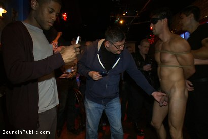 Photo number 5 from Hot Latin stripper is humiliated and used as a sex object in front of a horny crowd. shot for Bound in Public on Kink.com. Featuring Alexander Garrett and Tyler Saint in hardcore BDSM & Fetish porn.