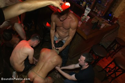 Photo number 6 from Hot Latin stripper is humiliated and used as a sex object in front of a horny crowd. shot for Bound in Public on Kink.com. Featuring Alexander Garrett and Tyler Saint in hardcore BDSM & Fetish porn.