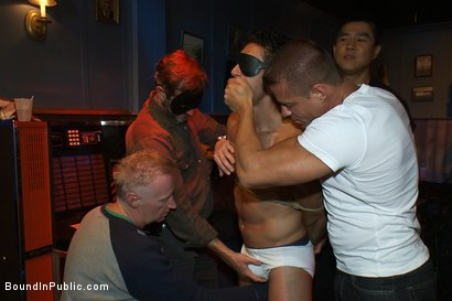 Photo number 1 from Hot Latin stripper is humiliated and used as a sex object in front of a horny crowd. shot for Bound in Public on Kink.com. Featuring Alexander Garrett and Tyler Saint in hardcore BDSM & Fetish porn.