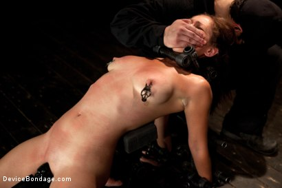 Photo number 14 from Up and coming bondage whole made to cum and squirt with caning and whipping  shot for Device Bondage on Kink.com. Featuring Audrey Rose in hardcore BDSM & Fetish porn.