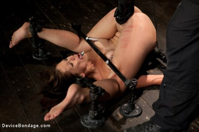 Photo number 8 from Up and coming bondage whole made to cum and squirt with caning and whipping  shot for Device Bondage on Kink.com. Featuring Audrey Rose in hardcore BDSM & Fetish porn.