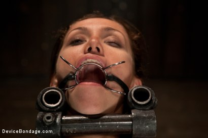 Photo number 10 from Up and coming bondage whole made to cum and squirt with caning and whipping  shot for Device Bondage on Kink.com. Featuring Audrey Rose in hardcore BDSM & Fetish porn.