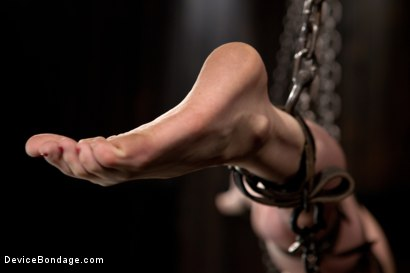 Photo number 11 from Destructive orgasms -  this Little Brunette is made to cum in stressful bondage shot for Device Bondage on Kink.com. Featuring Sensi Pearl in hardcore BDSM & Fetish porn.