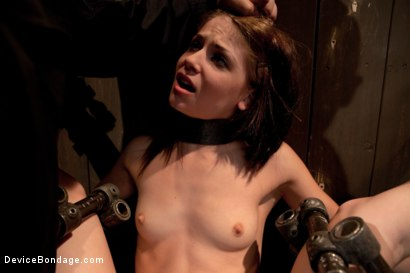 Photo number 8 from Destructive orgasms -  this Little Brunette is made to cum in stressful bondage shot for Device Bondage on Kink.com. Featuring Sensi Pearl in hardcore BDSM & Fetish porn.