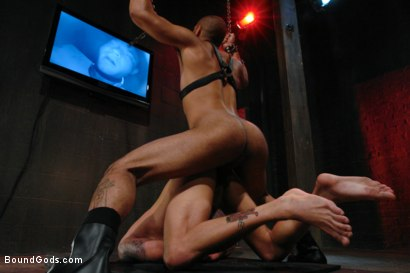 Photo number 14 from Wax Torment, Electricity and a Headless Fuck shot for Bound Gods on Kink.com. Featuring Drake Jaden and Leo Forte in hardcore BDSM & Fetish porn.
