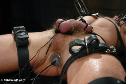 Photo number 3 from Wax Torment, Electricity and a Headless Fuck shot for Bound Gods on Kink.com. Featuring Drake Jaden and Leo Forte in hardcore BDSM & Fetish porn.