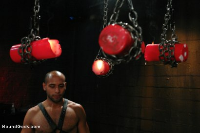 Photo number 5 from Wax Torment, Electricity and a Headless Fuck shot for Bound Gods on Kink.com. Featuring Drake Jaden and Leo Forte in hardcore BDSM & Fetish porn.