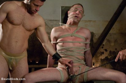 Photo number 8 from A member tries to get tied up on BG for 2 years and today is his day. shot for Bound Gods on Kink.com. Featuring Tristan Jaxx and Lief Kaase in hardcore BDSM & Fetish porn.