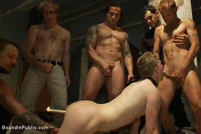 Photo number 12 from Dirty cruisers take down two innocent studs in a public toilet. shot for Bound in Public on Kink.com. Featuring Mike Rivers, Branden Forrest and Dutch Bardoux in hardcore BDSM & Fetish porn.