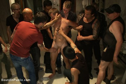 Photo number 2 from Dirty cruisers take down two innocent studs in a public toilet. shot for Bound in Public on Kink.com. Featuring Mike Rivers, Branden Forrest and Dutch Bardoux in hardcore BDSM & Fetish porn.