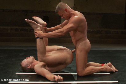 Photo number 14 from Muscle on Muscle - Tyler Saint takes on Ethan Hudson  shot for Naked Kombat on Kink.com. Featuring Ethan Hudson and Tyler Saint in hardcore BDSM & Fetish porn.