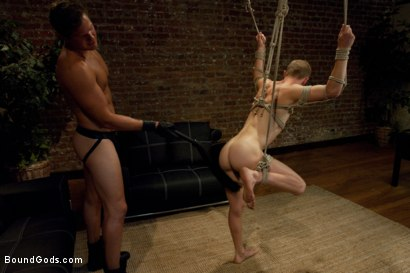 Photo number 8 from Duct tape and Nipple Torment shot for Bound Gods on Kink.com. Featuring Parker London and Patrick Hunt in hardcore BDSM & Fetish porn.