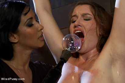 Photo number 3 from Amateur Hottie Tries Electricity With Isis Love shot for Wired Pussy on Kink.com. Featuring Sofia Lauryn and Isis Love in hardcore BDSM & Fetish porn.
