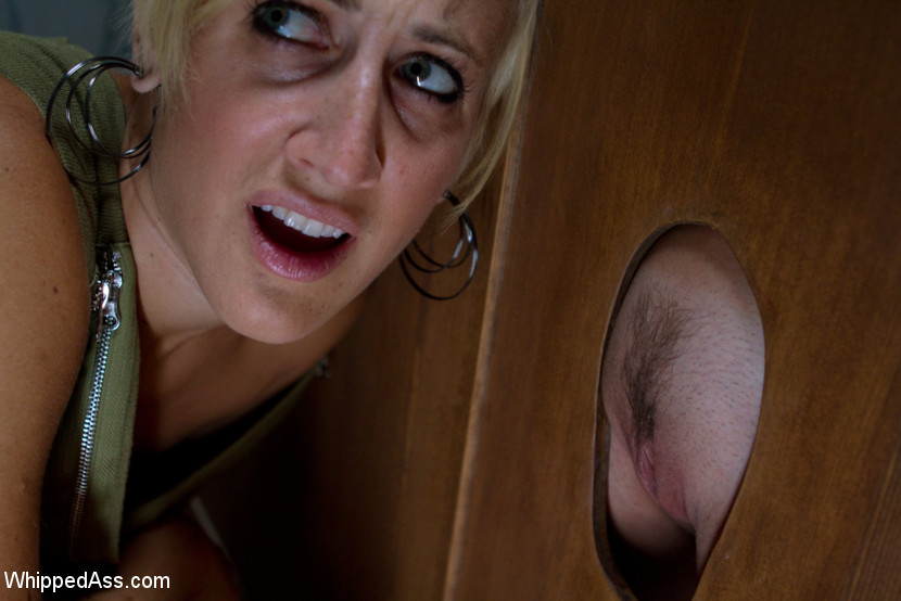 Wife licks floor of glory hole