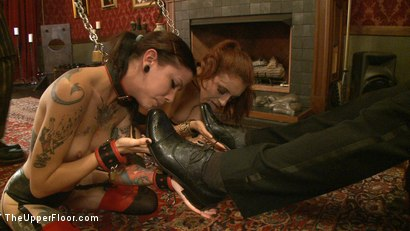 Photo number 4 from Service Day: L.A. Meat shot for The Upper Floor on Kink.com. Featuring Iona Grace, Krysta Kaos and Derrick Pierce in hardcore BDSM & Fetish porn.