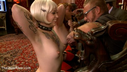 Photo number 2 from The House slaves Showcase their Foot Job Skills shot for The Upper Floor on Kink.com. Featuring Lilla Katt, Krysta Kaos and Sparky Sin Claire in hardcore BDSM & Fetish porn.